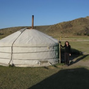 Me and my Gobi Yurt in Mongolia