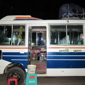 Pseudo-bus from Bagan to Inle Lake