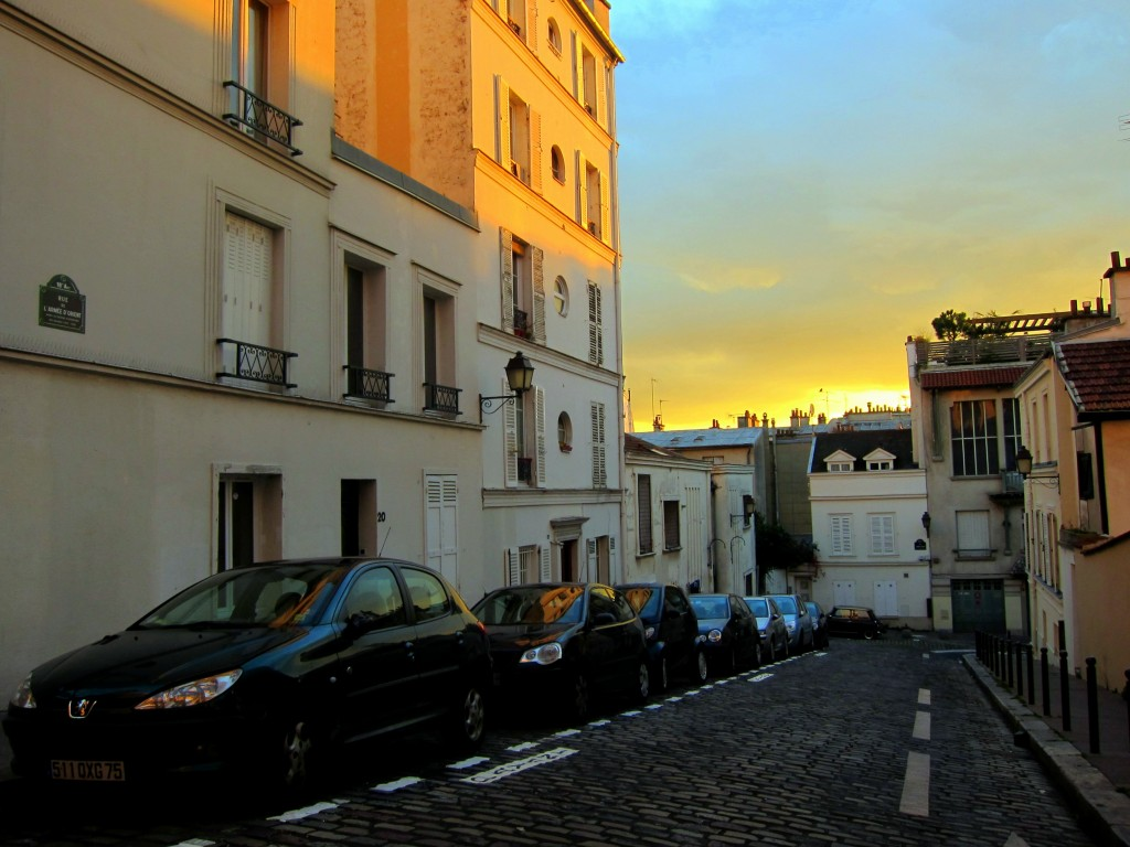 Walking toward Sacre Coeur in Paris