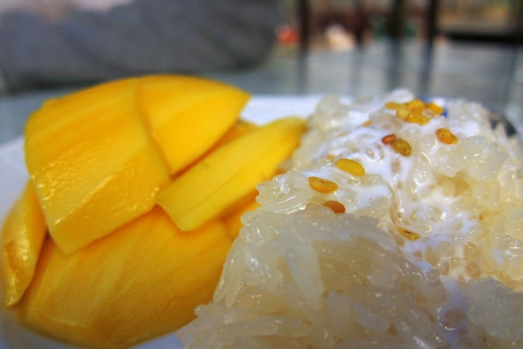 Mango sticky rice in Chiang Mai
