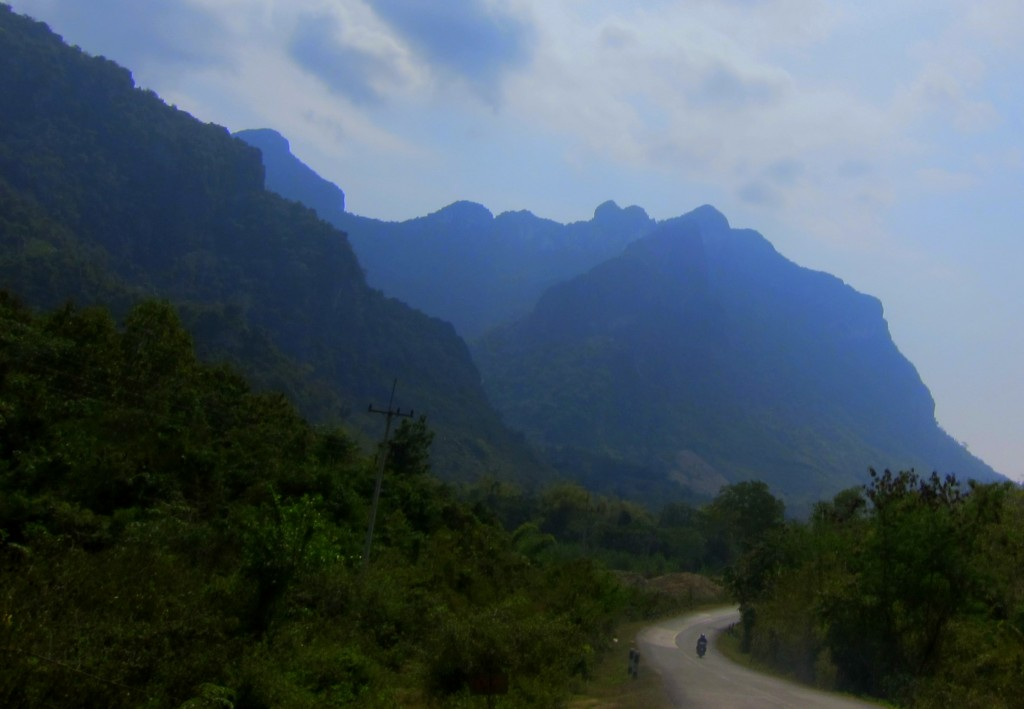 The winding road from Luang Prabang
