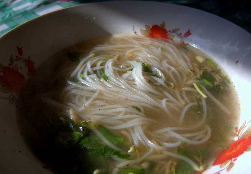 Morning soup in Nong Kiow