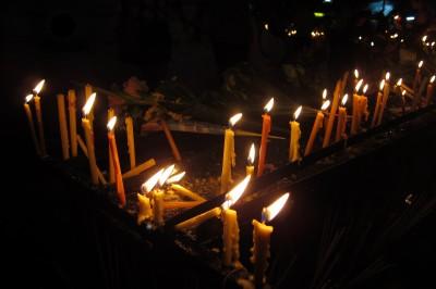 Candles at Wat Phra Singh Thailand