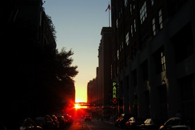 New York Manhattanhenge 2011