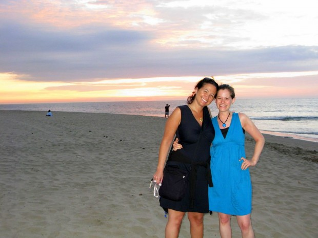 Me and Jessica in Mancora, Peru at the start of of trip in 2008