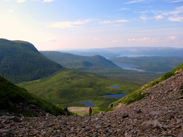 Summiting Gros Morne mountain