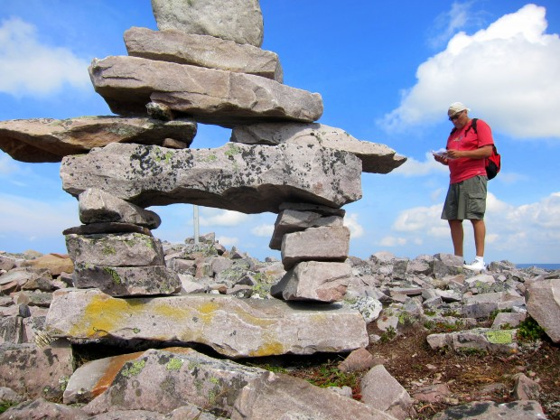 Inuksuk atop Gros Morne in Newfoundland
