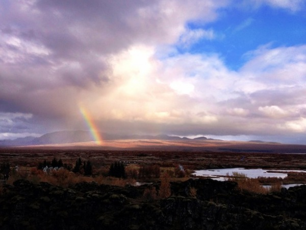 One of many rainbows on the Iceland Golden Circle