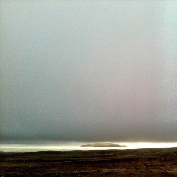A sliver of sun in the clouds, Iceland