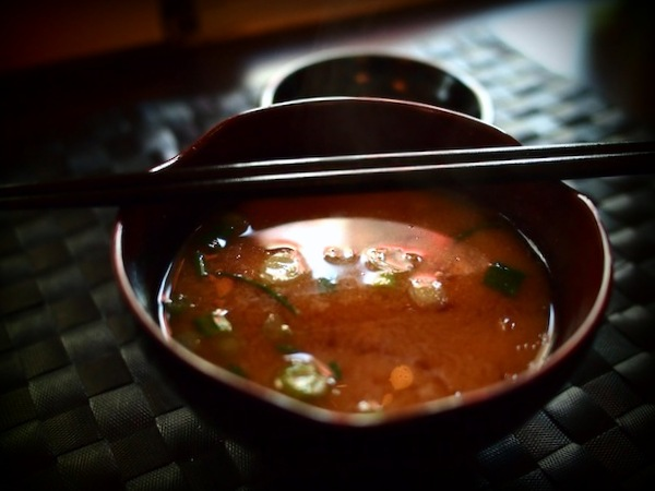 Cod miso soup at Sushibarinn
